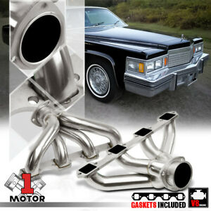 Ss Exhaust Header Manifold For Cadillac 425 472 500 Big Block Hugger V8 Caddy