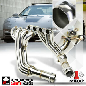 Ss Long Tube Exhaust Header Manifold For 97 04 Chevy Corvette 5 7 V8 C5 Ls1 ls6