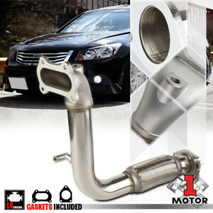 Stainless Steel Exhaust Header Manifold Downpipe For 08 14 Accord tsx 2 4 I4 K24