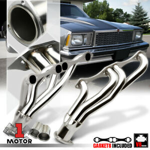 Ss Mid Length Exhaust Header Manifold For 78 91 Chevy 265 400 Small Block Gen I