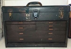 Union Steel Machinist Tool Box 7 Drawers And Top Till Plus Tools