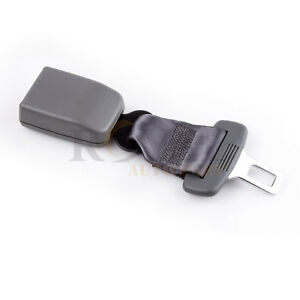 Gray Universal 8 Car Seat Seat Belt Safety Belt Extender Extension 7 8 Buckle