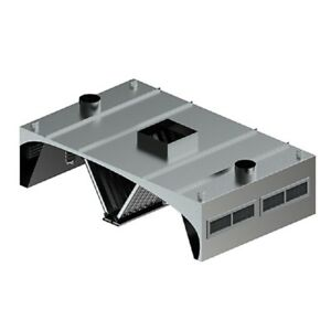 L t Commercial Custom Made 60 Island Style Double Exhaust Hood Vent System