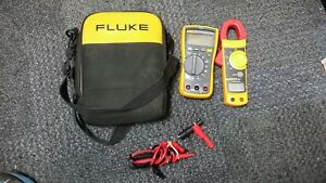 Fluke 117 322 Kit Multimeter Clamp Meter Combo Kit With Case And Leads