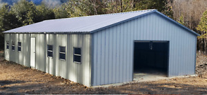 26x51x9 Steel Metal Workshop Garage Utility Shed Building