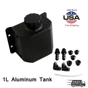 New Aluminum 1l Coolant Radiator Overflow Recovery Water Tank Bottle Us Seller