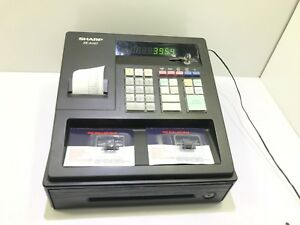 Sharp Xe a107 Small Business Cash Register With Key 3 New Ink Rollers Tested