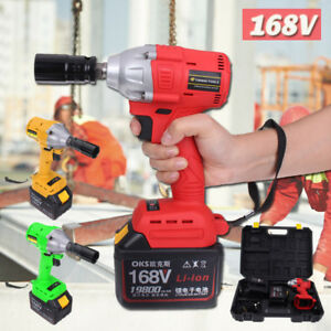 168v Electric Impact Wrench Gun Set W Case Sockets 3 Speed Torque 320 Nm