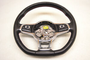 Mk7 Vw Gti Black Leather Steering Wheel 6 Speed Genuine Oem 2015 2019