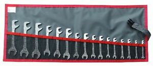 Proto Facom Fm 34 jl16t Short Satin Metric Angle Open end Wrench set 16pc