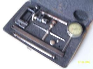 Starrett 196a Dial Plunge Indicator 001 Boxed Machinist Usa