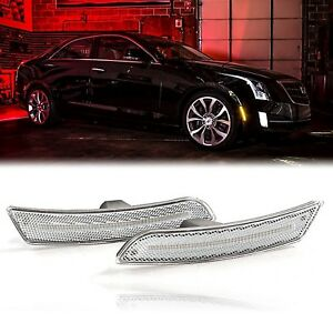 14 18 Cadillac Ats cts Front Fender Led Clear Side Marker Set Diode Dynamics