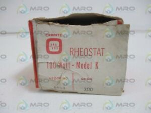 Ohmite 0453 Rheostat Model K 300 Ohms 100watts New In Box