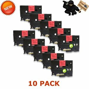 10 Pk Black On Red Compatible Brother Label Tape Tz 421 tze 421 Us Stock