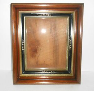 Antique Eastlake Picture Frame Deep Shadowbox Style Carved Gold Gilt Walnut