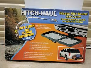 Hitch Haul Cargo Carrier With Dual Receiver Bars Universal Hitch Mounted