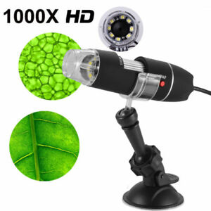 1000x8 Led Usb Digital Microscope Endoscope Zoom Camera Magnifier Stand Lot