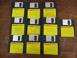 Lot Of Fanuc Rj2 Multiple Options Packages Library Disks