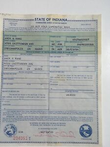 1962 Ford Falcon H29 Indiana Historical Document