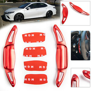 Pair Steering Wheel Extension Shift Paddle Shifter For Toyota Camry 2018 Red E