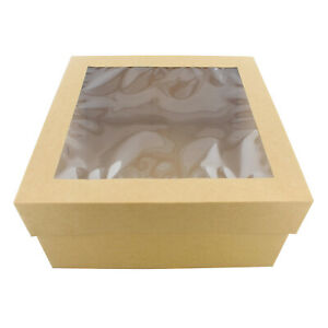 Specialt Cake Boxes With Window 25 pack 12 X 12 X 6 Inch Bakery Boxes