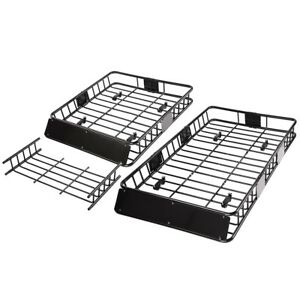 64 Universal Roof Rack Cargo Car Basket Carrier Luggage Holder Carrier Travel