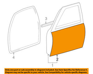 Toyota Oem 95 04 Tacoma door Skin Outer Panel Left 6711204061