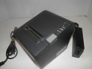 New Epson Tm t88iv Thermal Pos Receipt Printer W Power Supply Ethernet M129h