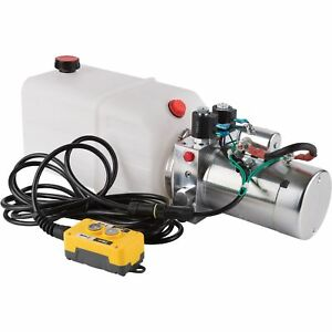 Nortrac Dump Trailer Power Unit W 12v Dc Motor for Double acting Cylinder