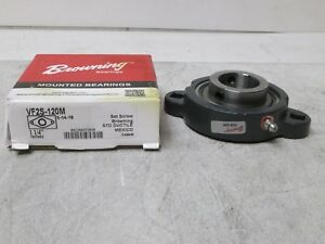 Browning 1 1 4 Ball Bearing Flange Vf2s 120m Set Screw Std Ductile New Freeship