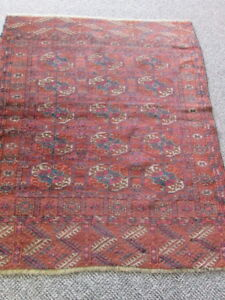 Antique Turkoman Oriental Rug