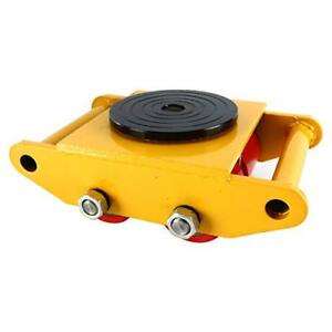 Industrial Machinery Mover 13200 Lbs 6 Tons W 4 Rollers Cap 360 Rotation yellow