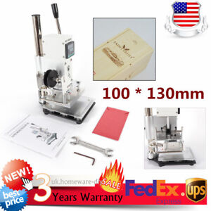 10 13cm Leather Hot Foil Stamping Machine Digital Wooden Logo Bronzing Print New