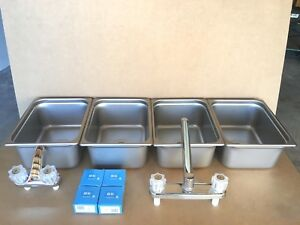 New Large 3 Compartment Sink Hand Washing For Concession Stand Tent Trailer