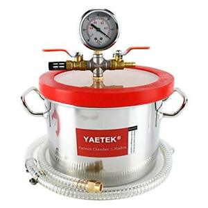 Vacuum Chamber For Degassing Resins Silicone And Epoxies 1 5 Gallon New