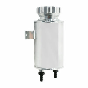 800ml Aluminum Radiator Coolant Overflow Reservoir Expansion Tank Can Silver