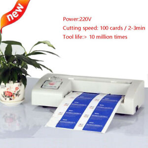 220v Automatic Business Card Cutter Binding Machine Electric Cutter 90 54mm New