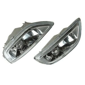 For 2001 2002 Toyota Corolla Fog Lights Clear Lens Driving Bumper Lamps