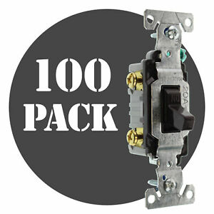 Hubbell Rs115z Toggle Switch 1 pole Grounding 15a 120v Brown 100 pack