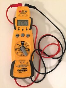 Fieldpiece Hs33 Expandable Manual Ranging Stick Multimeter For Hvac r With Leads