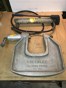 Greenlee 1732 C frame Hydraulic Knockout Punch 1 1903 Pump 1d