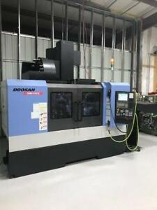 Doosan Dnm 500 Ii Cnc Vertical Machining Center With 4th Axis