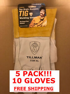 5 Pack Tillman 1328 Xl Top Grain Goatskin Tig Welding Free Shipping