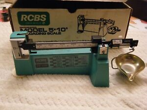RCBS 5 10 Reloading Scale In Box Nice Shape!