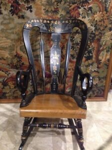 This Is A Very Nice Ethan Allen Stenciled Rocking Chair