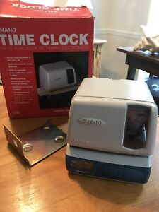 Amano Time Recorder Time Clock Stamper Pix 10 No Key tested See Pics