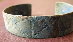 Authentic Ancient Lake Ladoga Viking Artifact Bronze Bracelet Vv 2 J