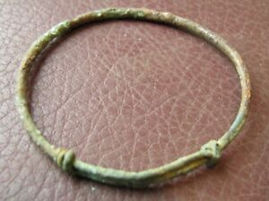 Authentic Ancient Lake Ladoga Viking Artifact Bronze Temporal Ring Vv 12 C