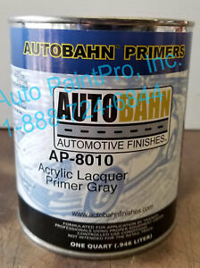 Ap 8010 Autobahn Acrylic Lacquer Primer Gray Restoration Car Paint Supplies