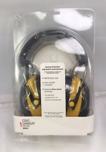 3m Worktunes Hearing Protector Earmuffs Am fm mp3 ipod Digital Radio 90541 Nip